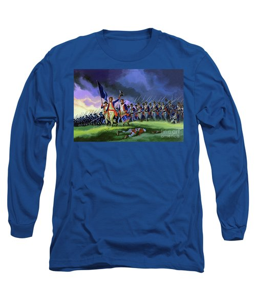 The Battle Of Saratoga, Showing A General Attack Led By Brigadier Arnold Long Sleeve T-Shirt