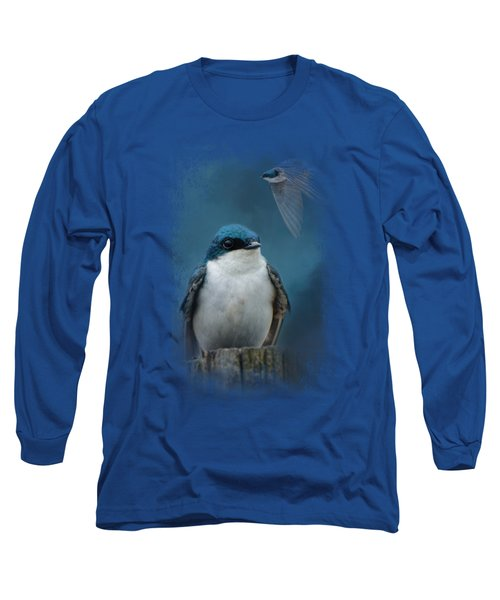 The Beautiful Tree Swallow Long Sleeve T-Shirt by Jai Johnson