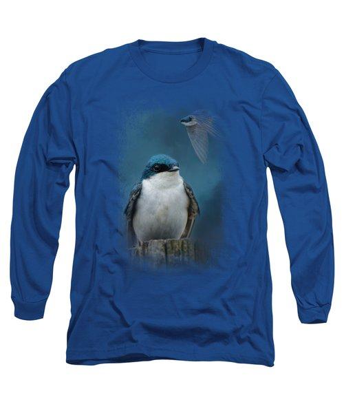The Beautiful Tree Swallow Long Sleeve T-Shirt
