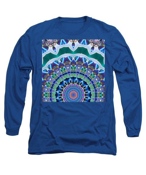 Long Sleeve T-Shirt featuring the digital art The Blue Collective 03b by Wendy J St Christopher