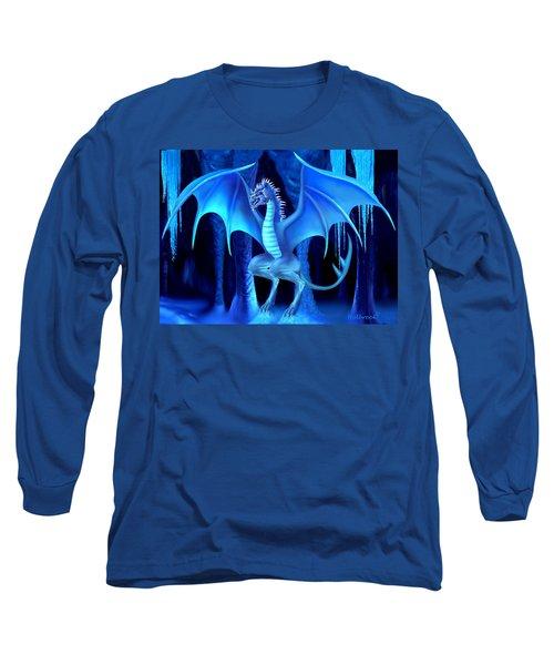 The Blue Ice Dragon Long Sleeve T-Shirt