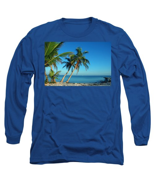 The Blue Lagoon Long Sleeve T-Shirt by Susanne Van Hulst
