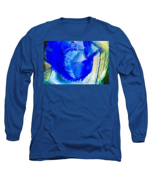 Long Sleeve T-Shirt featuring the painting The Blues by Omaste Witkowski