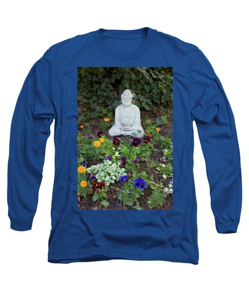 Long Sleeve T-Shirt featuring the pyrography The Calm by Michael Lucarelli