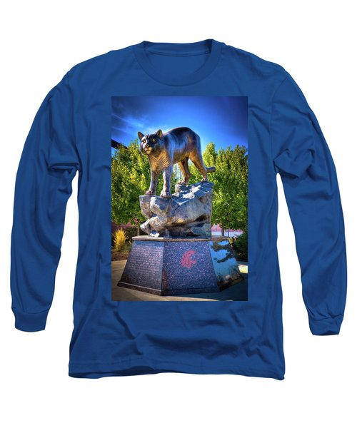 The Cougar Pride Sculpture Long Sleeve T-Shirt by David Patterson