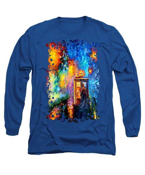 The Doctor Lost In Strange Town Long Sleeve T-Shirt by Three Second