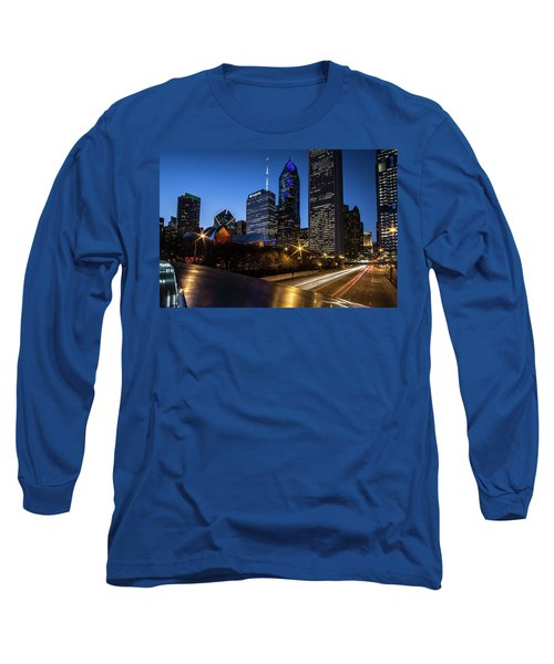 The East Side Skyline Of Chicago  Long Sleeve T-Shirt