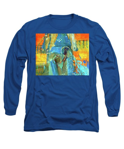 Long Sleeve T-Shirt featuring the painting The End Game by Everette McMahan jr