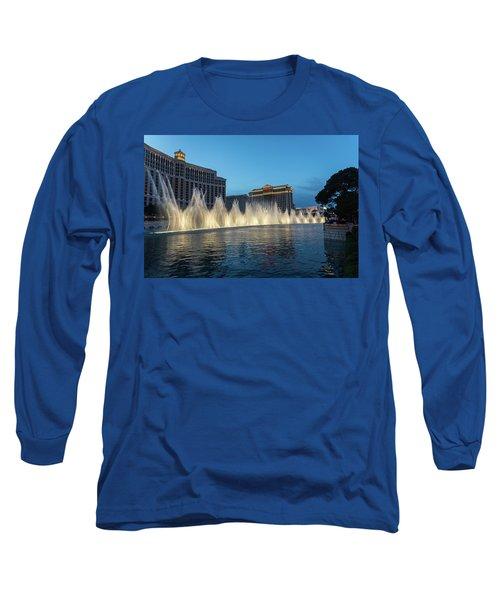 The Fabulous Fountains At Bellagio - Las Vegas Long Sleeve T-Shirt