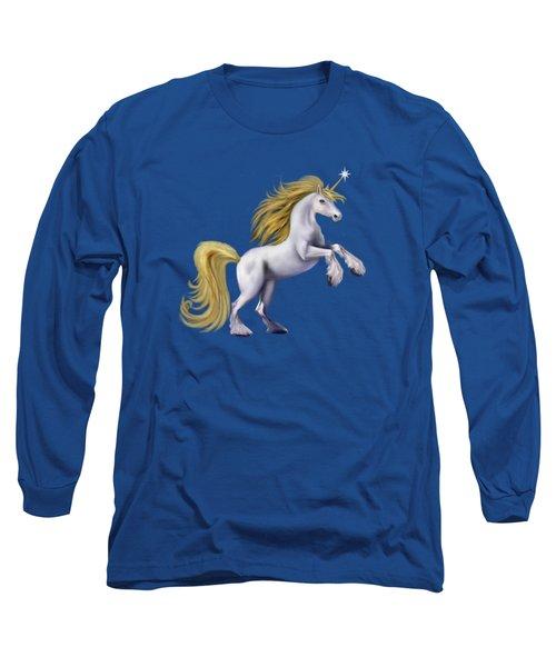 The Golden Unicorn Long Sleeve T-Shirt by Glenn Holbrook