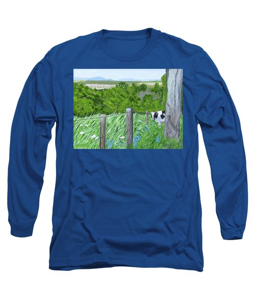 'the Grass Sings In The Meadow' Long Sleeve T-Shirt