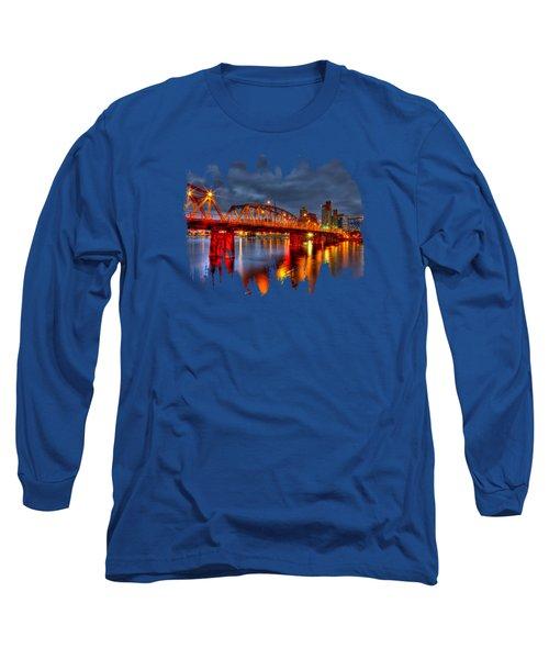 Long Sleeve T-Shirt featuring the photograph The Hawthorne Bridge - Pdx by Thom Zehrfeld