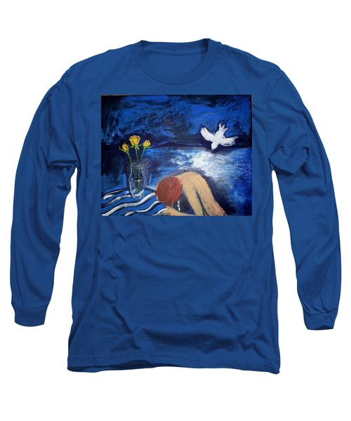 Long Sleeve T-Shirt featuring the painting The Healing by Winsome Gunning