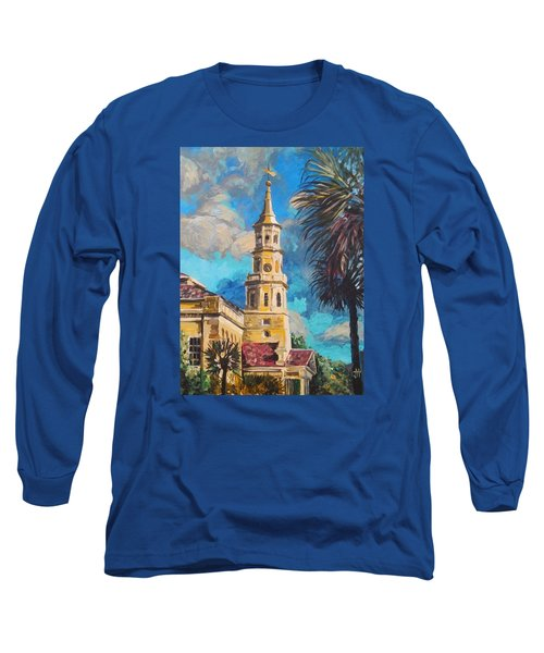 Long Sleeve T-Shirt featuring the painting The Heart Of Charleston by Jennifer Hotai
