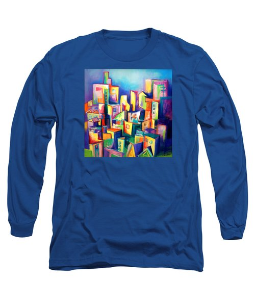 The Houses Long Sleeve T-Shirt by Kim Gauge