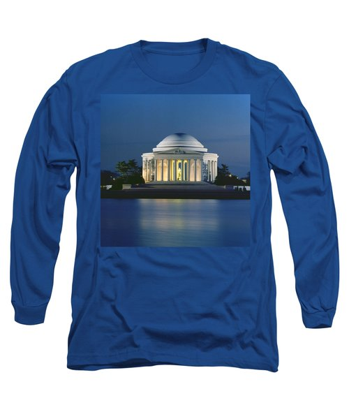 The Jefferson Memorial Long Sleeve T-Shirt by Peter Newark American Pictures