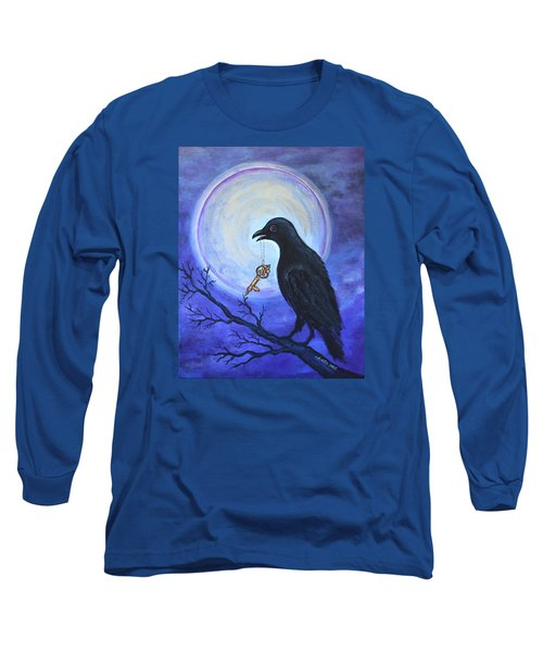 Long Sleeve T-Shirt featuring the painting The Key by Agata Lindquist
