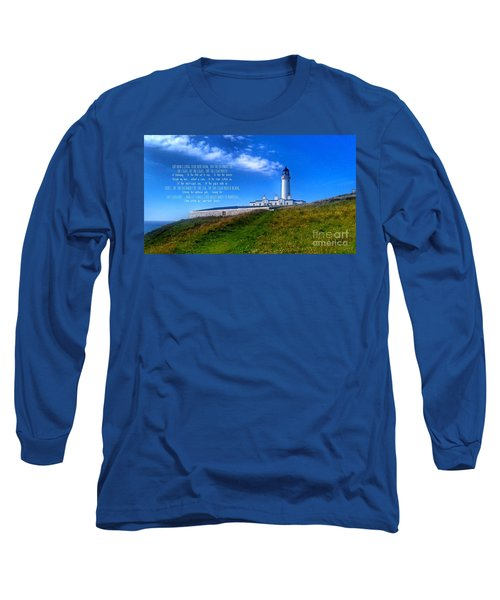The Lighthouse On The Mull With Poem Long Sleeve T-Shirt
