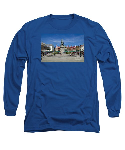 Long Sleeve T-Shirt featuring the photograph The Markt Of Bruges by Pravine Chester