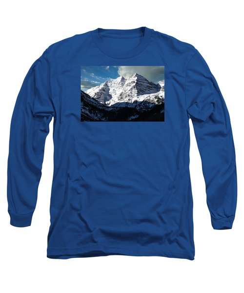 These Twin Peaks Outside Aspen Are Called The Maroon Bells  Long Sleeve T-Shirt by Carol M Highsmith