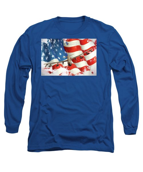 The Mighty B-52 Long Sleeve T-Shirt by Peter Chilelli
