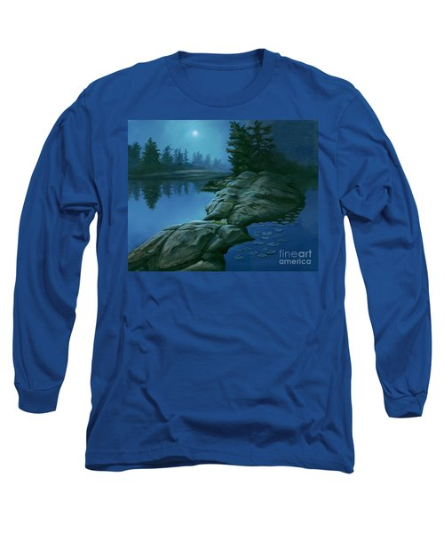 Long Sleeve T-Shirt featuring the painting The Moonlight Hour by Michael Swanson