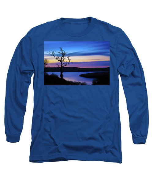 Long Sleeve T-Shirt featuring the photograph The Naked Tree At Sunrise by Semmick Photo