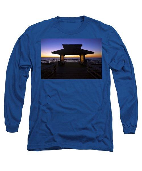 The Naples Pier At Twilight - 02 Long Sleeve T-Shirt