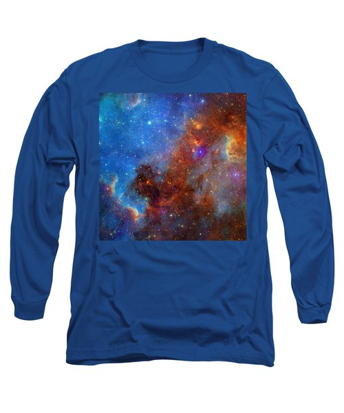 Long Sleeve T-Shirt featuring the photograph The North America Nebula In Different Lights by NASA JPL - Caltech