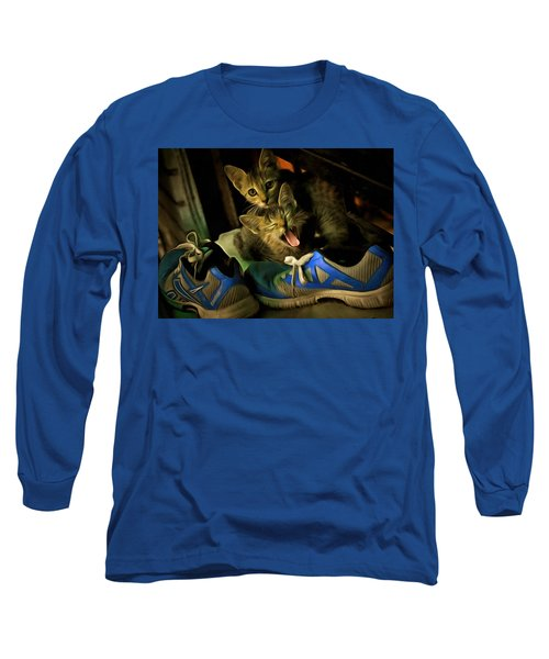 Long Sleeve T-Shirt featuring the digital art The Pair by Bliss Of Art