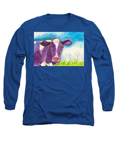The Purple Cow Long Sleeve T-Shirt by Whitney Morton