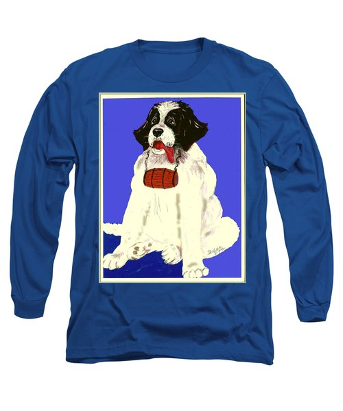 Long Sleeve T-Shirt featuring the painting The Saint by Desline Vitto