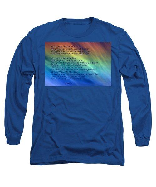 The Serenity Prayer Long Sleeve T-Shirt