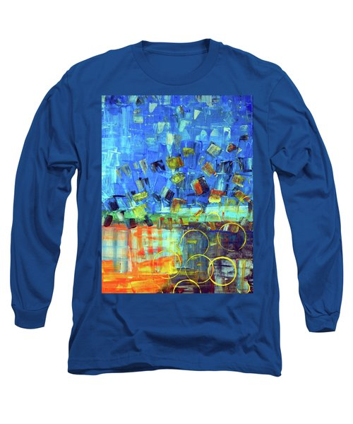 Long Sleeve T-Shirt featuring the painting The Sky Fell by Everette McMahan jr