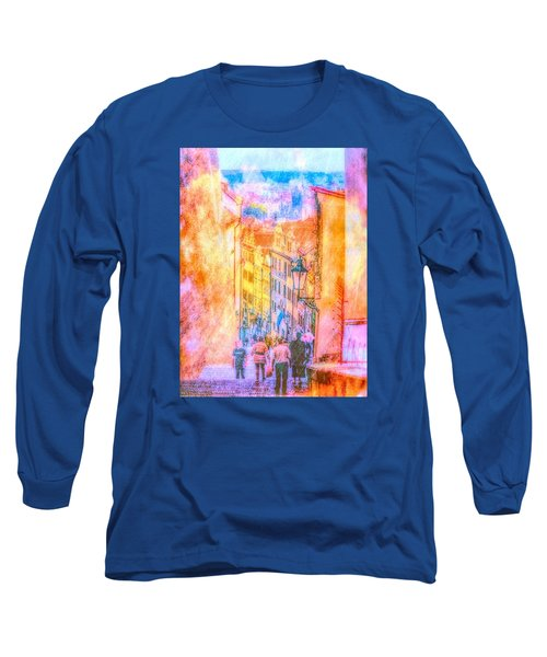 The Streets Of Prague Long Sleeve T-Shirt by Andreas Thust