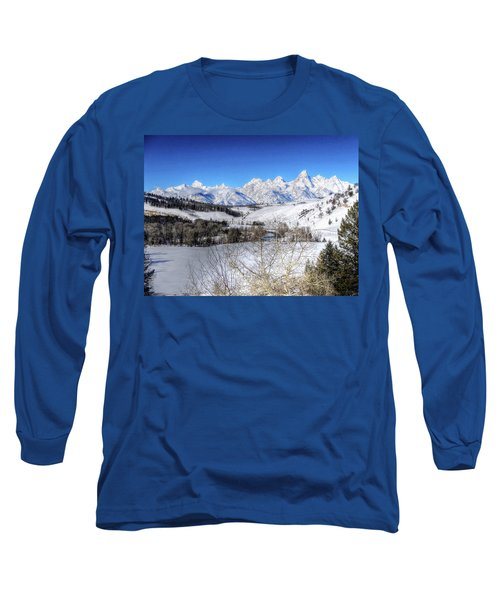 The Tetons From Gros Ventre Valley Long Sleeve T-Shirt