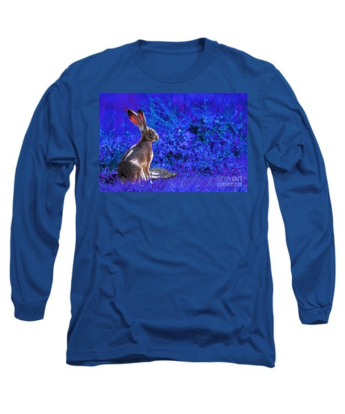The Tortoise And The Hare . Blue Long Sleeve T-Shirt