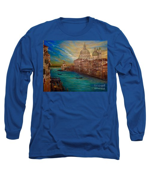 The Venice Of My Recollection With Digital Enhancement Long Sleeve T-Shirt by Kimberlee Baxter