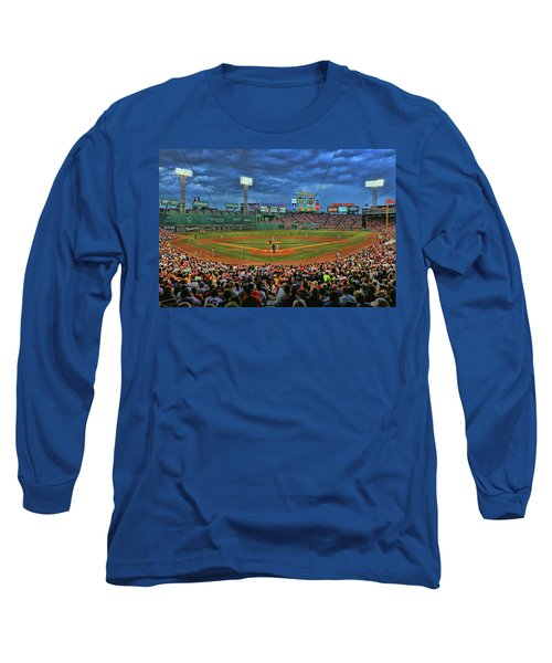 The View From Behind Home Plate - Fenway Park Long Sleeve T-Shirt