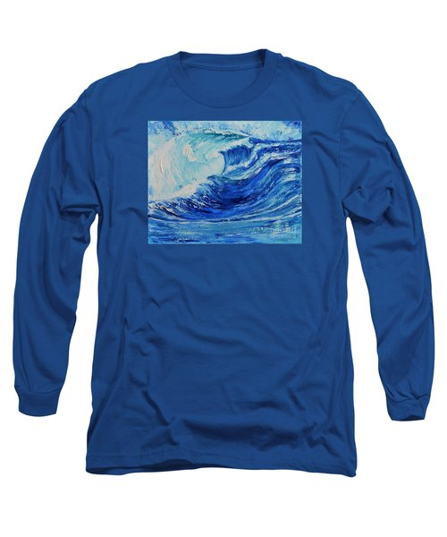 Long Sleeve T-Shirt featuring the painting The Wave by Teresa Wegrzyn
