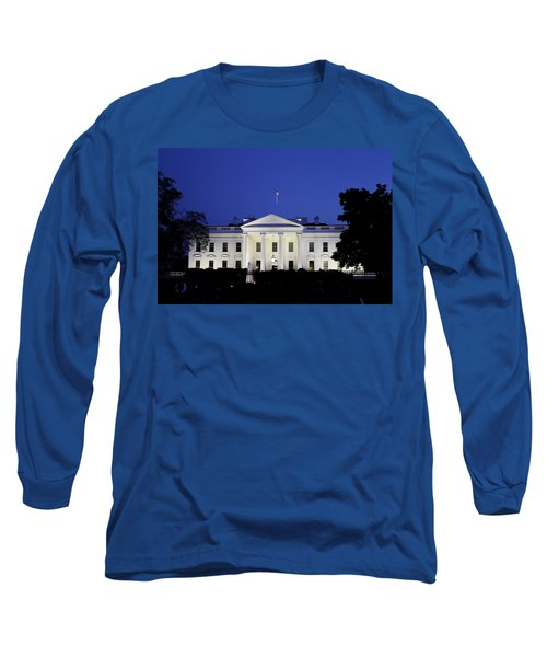 The White House At Night Long Sleeve T-Shirt