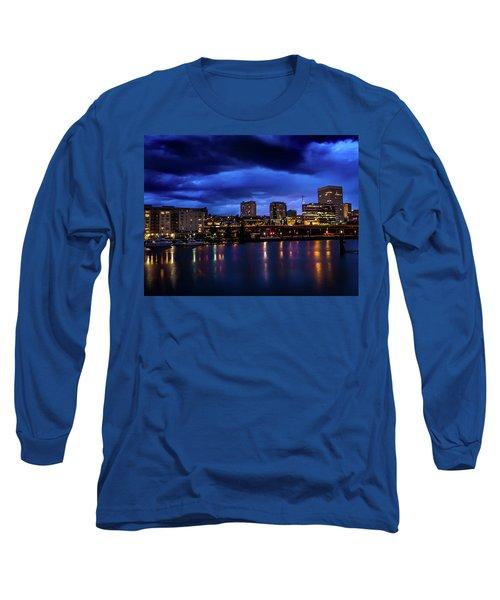 Thea Foss Waterway Storm Brewing Long Sleeve T-Shirt
