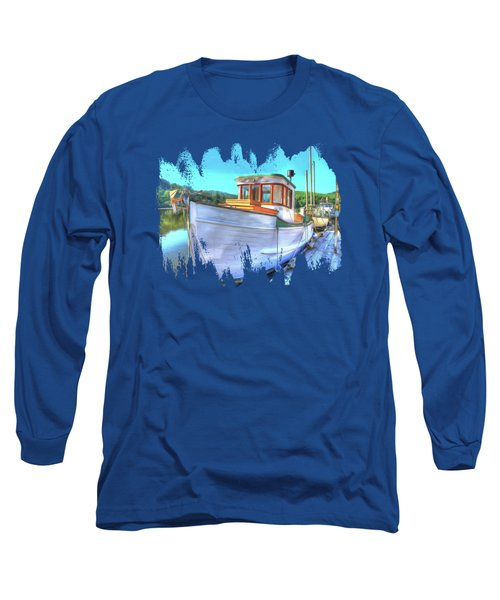 Thee Old Dragger Boat Long Sleeve T-Shirt by Thom Zehrfeld