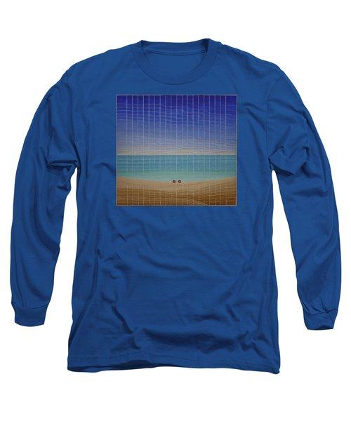 Three Beach Umbrellas Long Sleeve T-Shirt