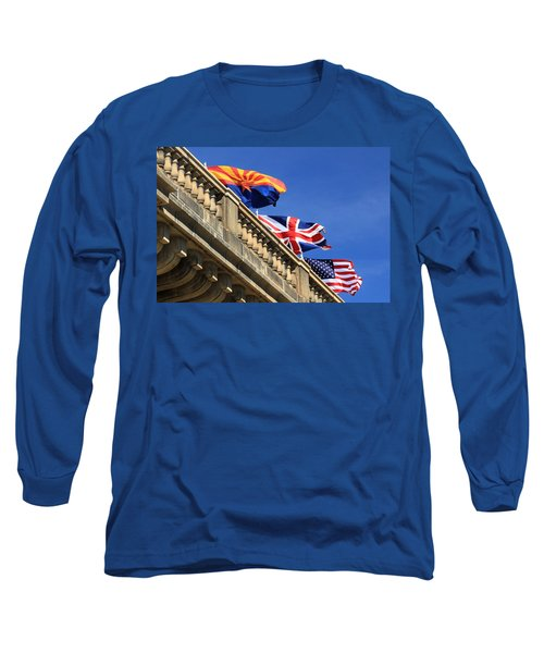 Three Flags At London Bridge Long Sleeve T-Shirt