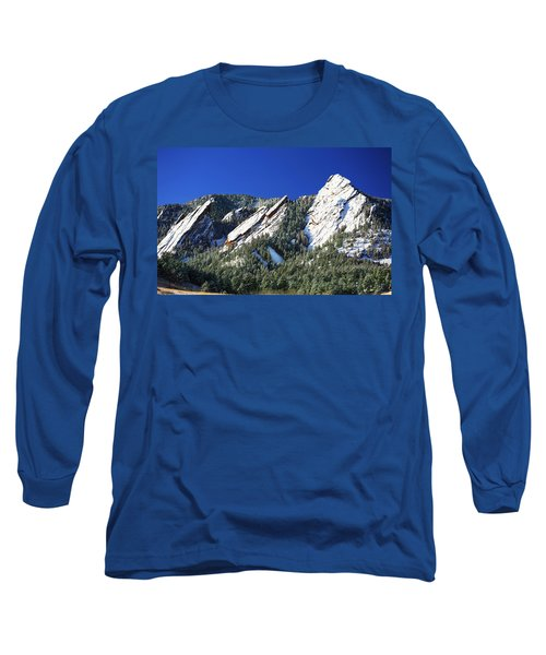 Three Flatirons Long Sleeve T-Shirt by Marilyn Hunt