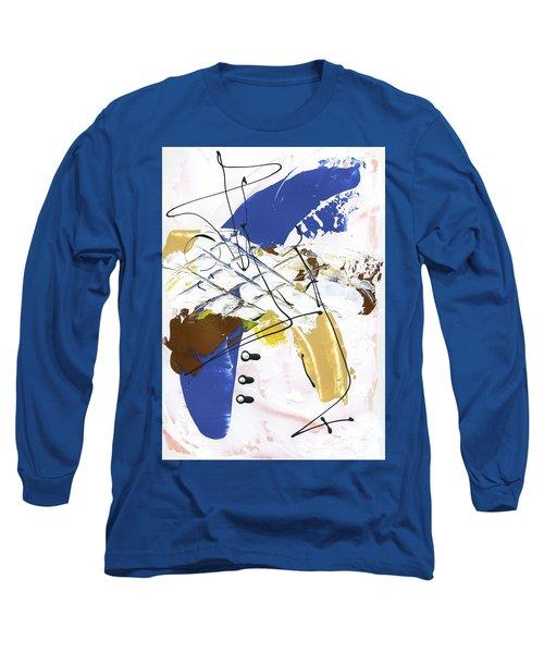 Three Color Palette Blue 3 Long Sleeve T-Shirt by Michal Mitak Mahgerefteh