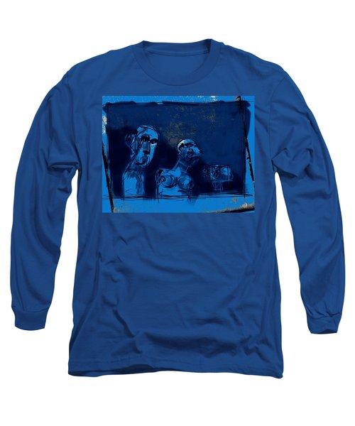 Through The Blue Window Long Sleeve T-Shirt by Jim Vance