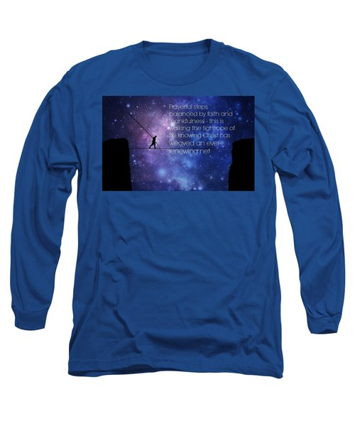 Tightrope Of Life Long Sleeve T-Shirt by David Norman