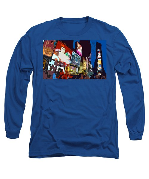Times Square Long Sleeve T-Shirt by Christopher Woods